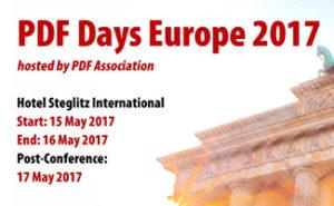 PDF Days Europe 2017
